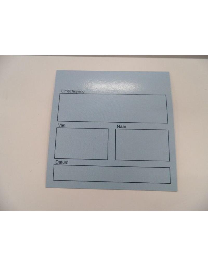 Blauwe boxkaartjes