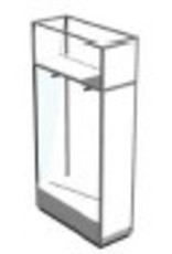 Conscious 153022 FL.CABINET,WH/GLASS/WH.COMP,DRAWER,WIDE