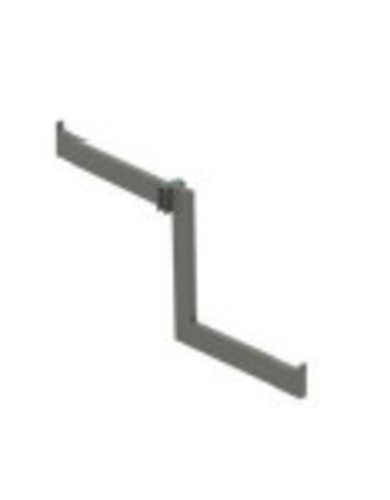 Conscious 157724 WATERF.ARM,FOR 10MM DET.RAIL,BRSS,L216MMx2