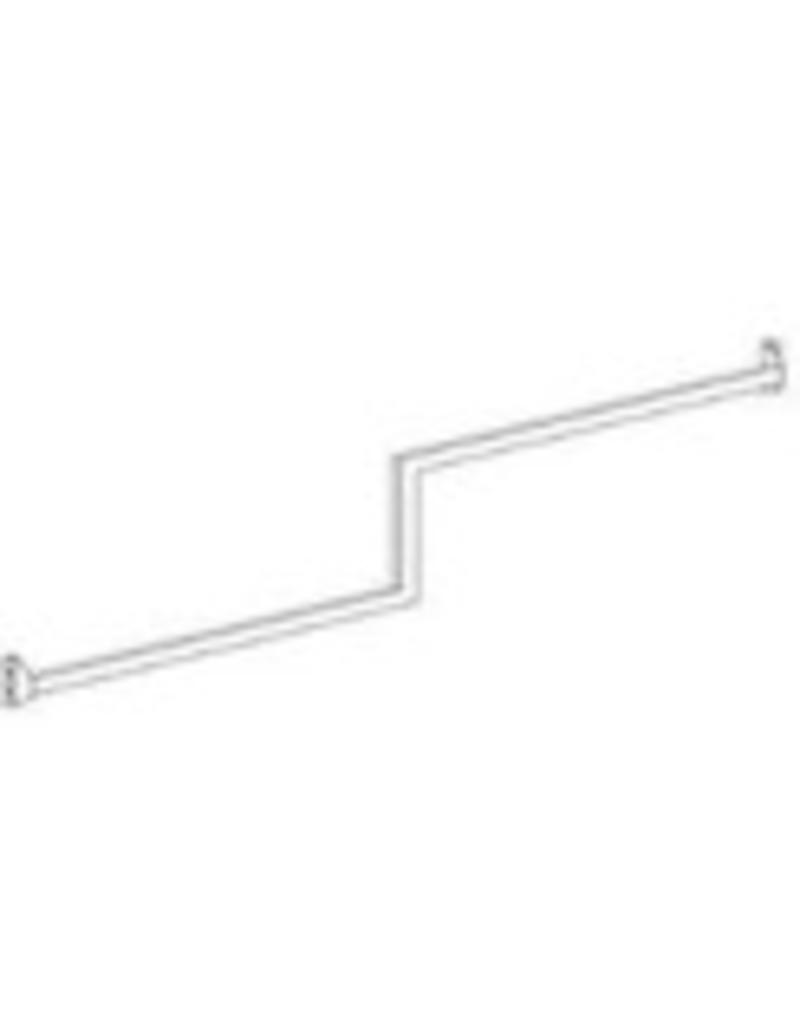 Conscious 107257 DETAILRAIL, 2-LEVEL, WALL FRAME, WHITE, RIGHT