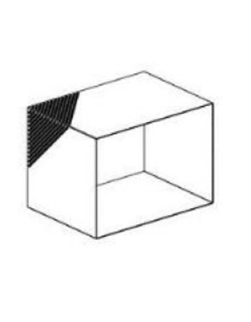 DISPLAY BOX,SQ.PERF.,WHITE,SMALL