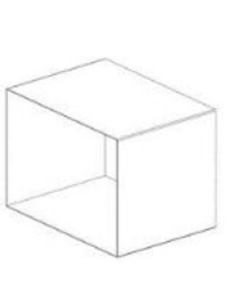 DISPLAY CUBE,WHITE,METAL