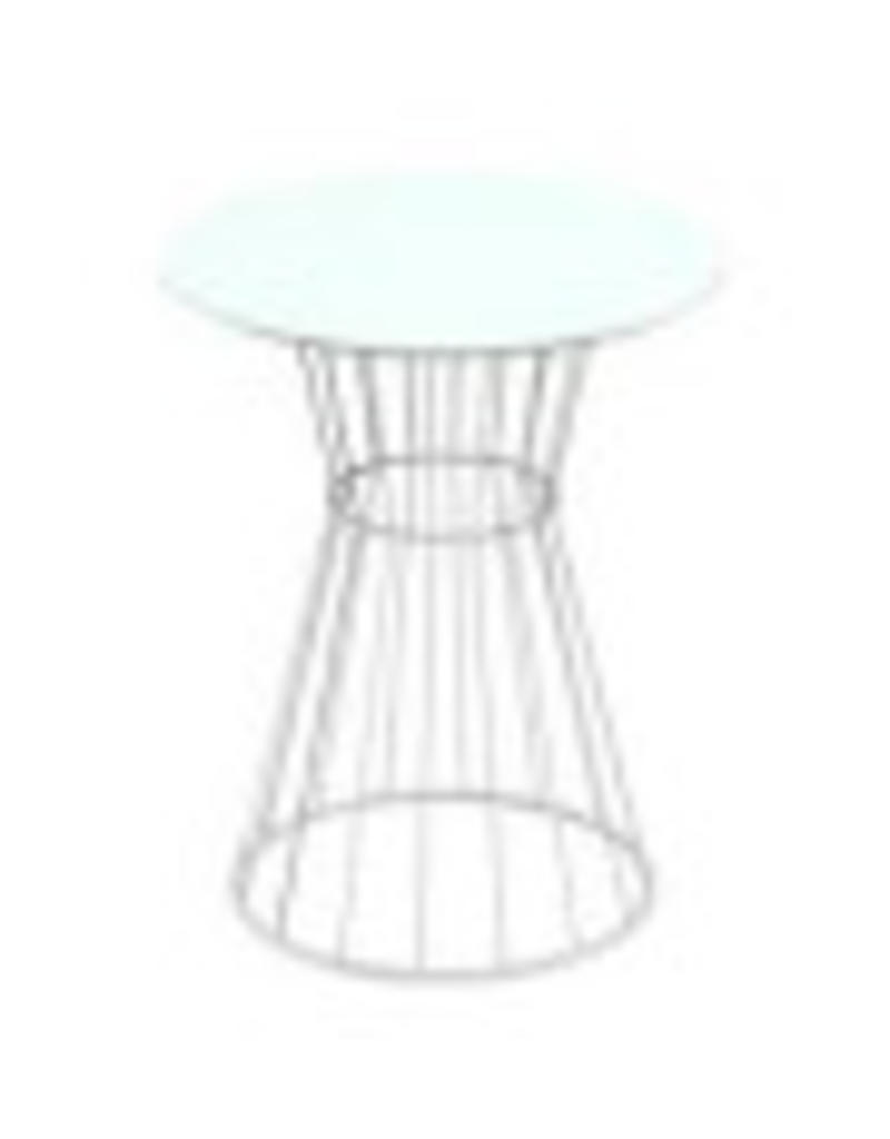 TABLE,A-AREA BABY,WH,ROUND,SMALL