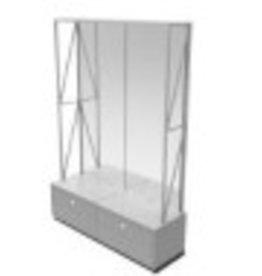 Store Development WALL CABINET,GR.ASH/MEL,HIGH,2-SEC
