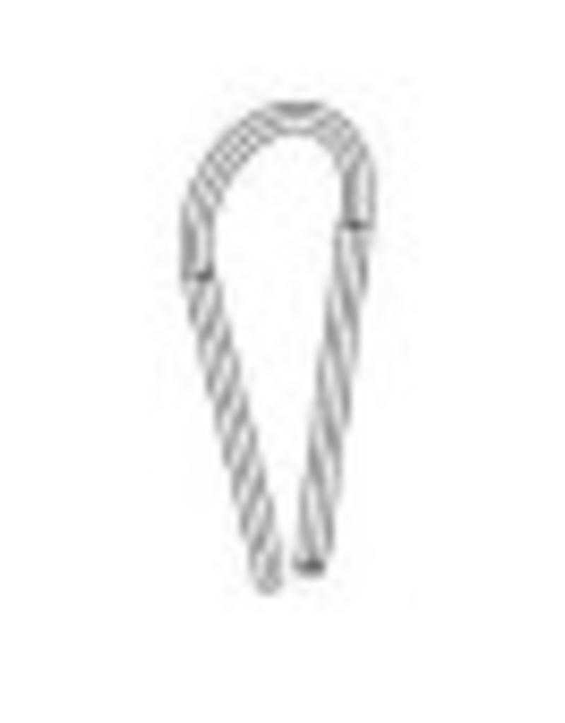 F.ROOM STRAP,TWINED THREAD,SILVER