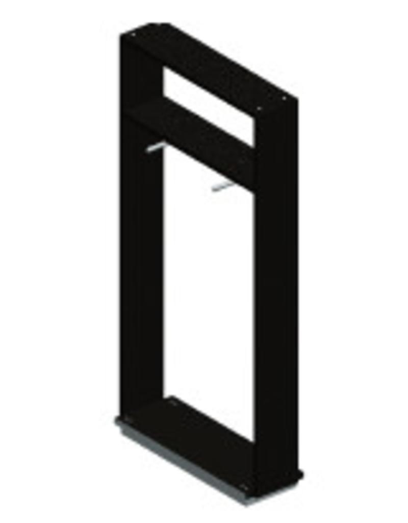 Store Development HARAJUKU,BL.ASH MEL,F.UNIT,HIGH,W.SHELF,SHLW BLACK AND WHITE