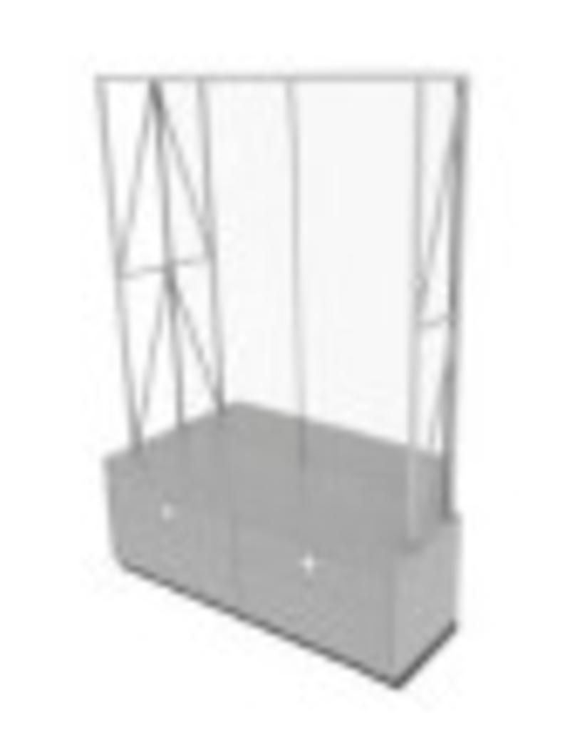 Store Development WALL CABINET,GR.ASH/MEL,2-SEC
