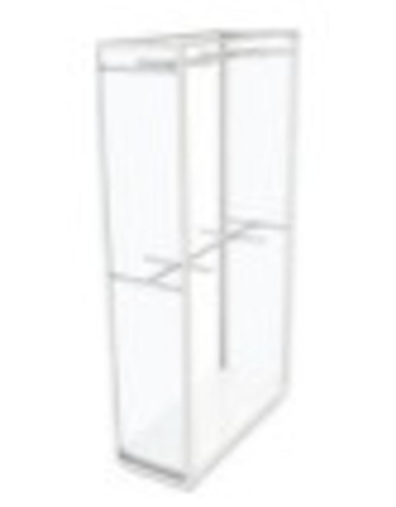 Store Development 185709 FL.CABINET,WH/GLASS/WH.COMP,DOUBLE HANG,WIDE