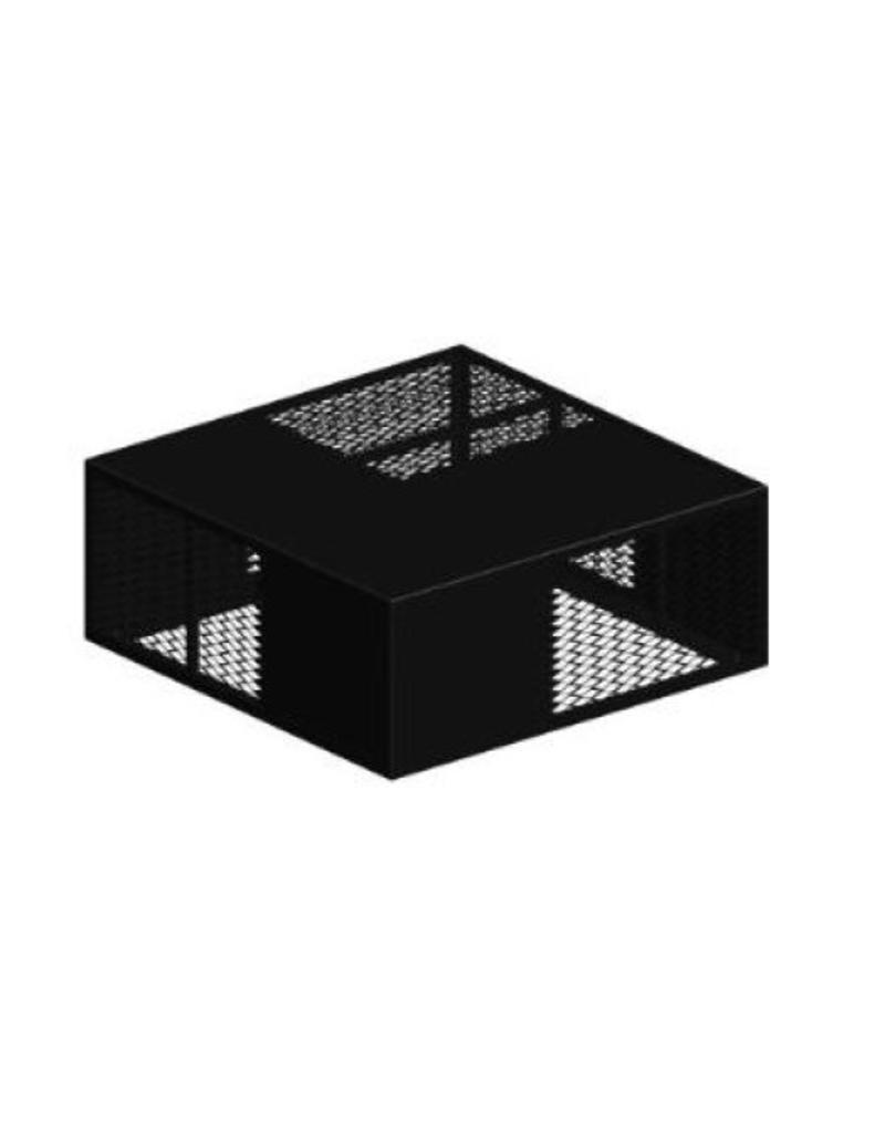 PODIUM,500x500x200,METAL MESH,BLACK
