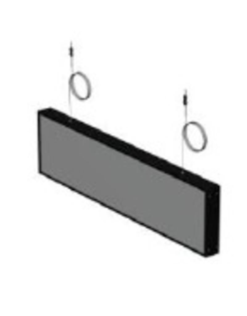 NL stock SIGN,NON LIT DIRECTION BOX,BL.CEILING,WIDE