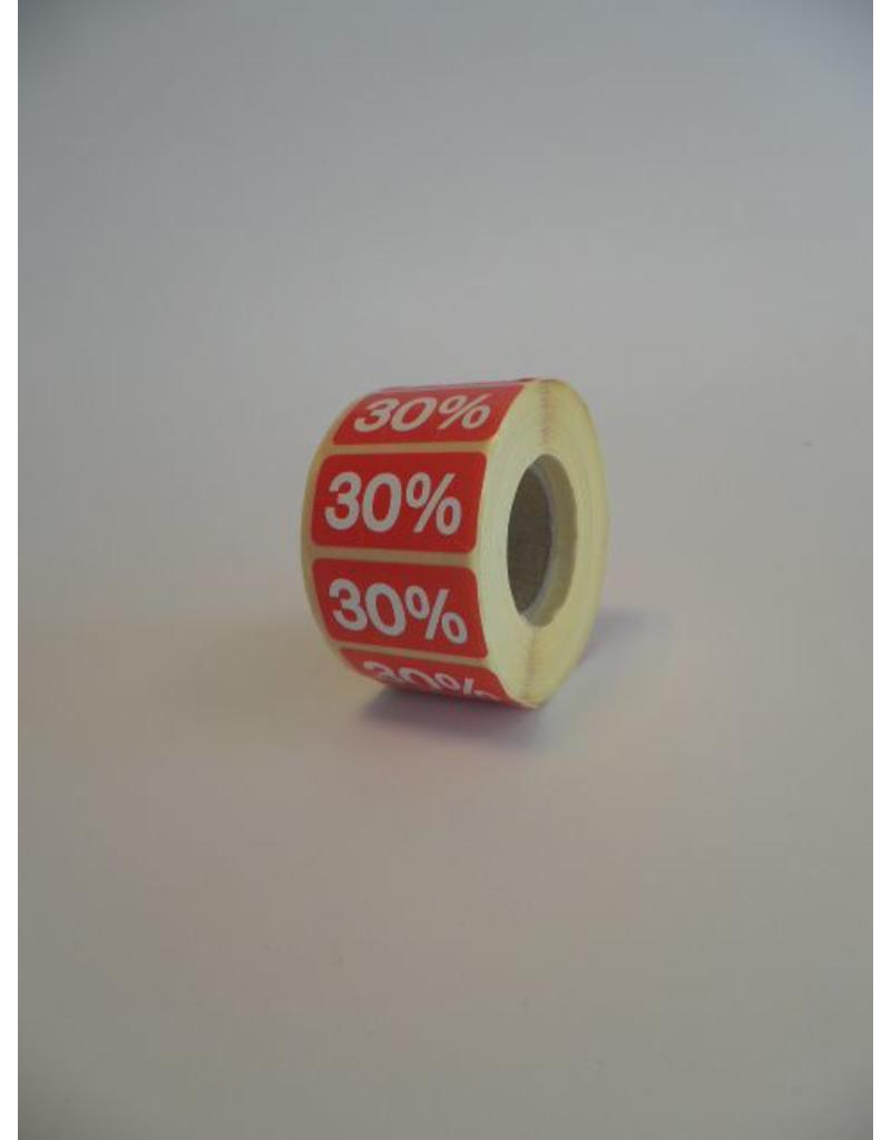 % ROOD - sale stickers