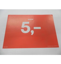 A5 Picturesign Saleprijs 5,00  21x14.8cm(rood)