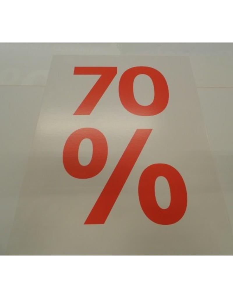 Window sign sale bord 70%(wit)
