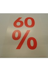 Window sign sale bord 60%(wit)