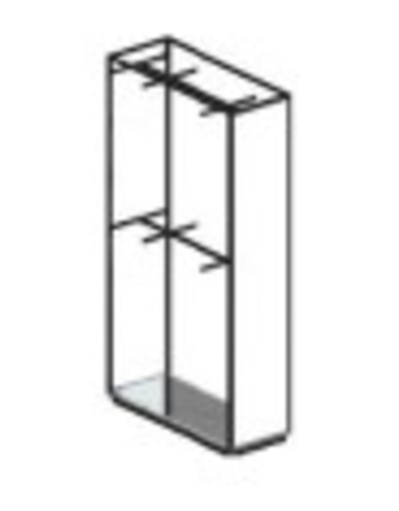 Store Development 152796 FL.CABINET,BL/GLASS,DOUBLE HANG,WIDE