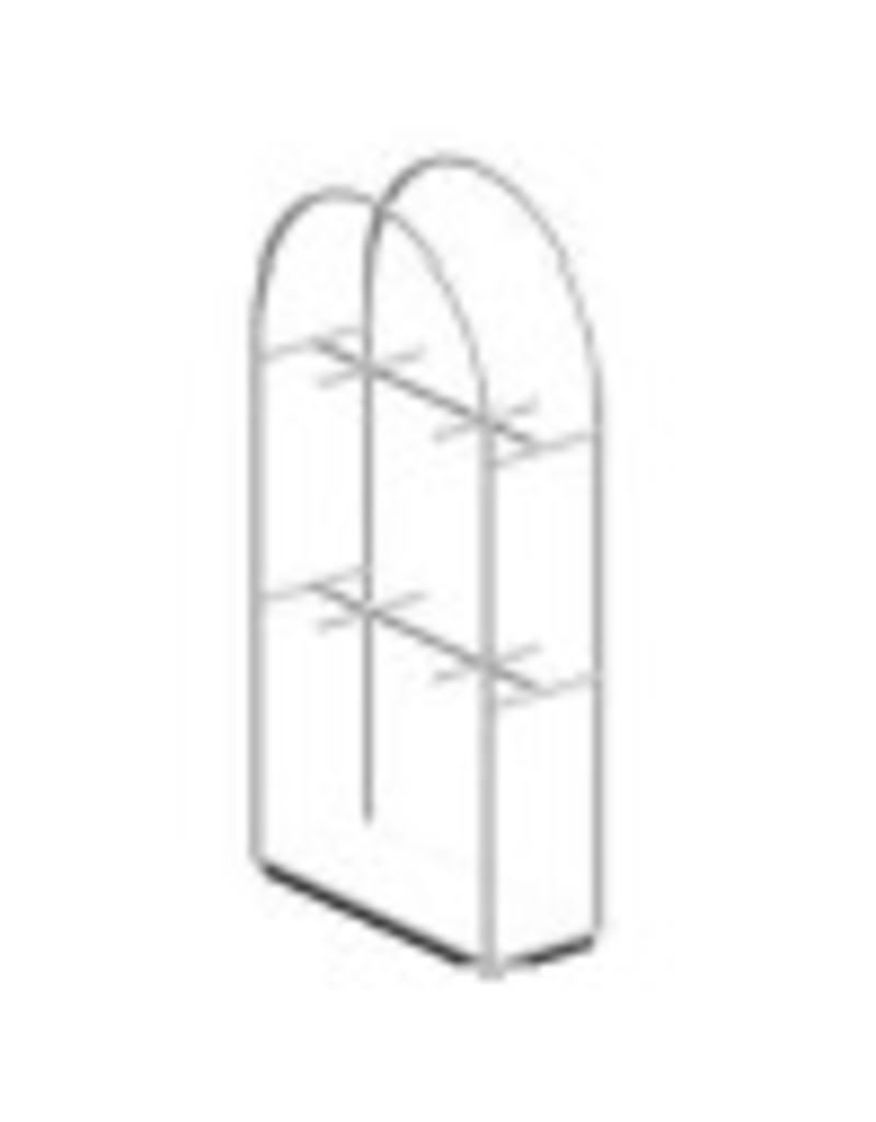 Conscious 153401 FL.CABINET,ARCH,WH,WIDE,DOUBLE HANG
