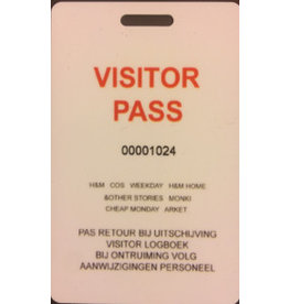 Visitor pass ( max. 5 per bestelling)