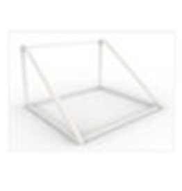 Store Development BEAUTY METAL STAND, STAIRS, WH, NARROW