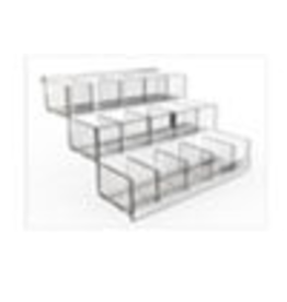 Store Development BEAUTY STAIRS F.METAL STAND, ACRYLIC, NARROW, HIGH