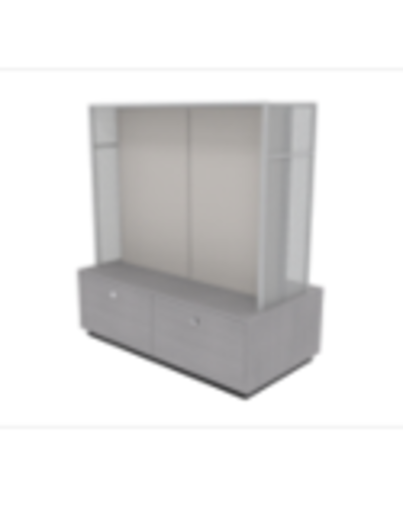 Store Development BEAUTY F.STAND, W. DRAWERS, GR.ASH/MEL, 2 -SEC (2020)