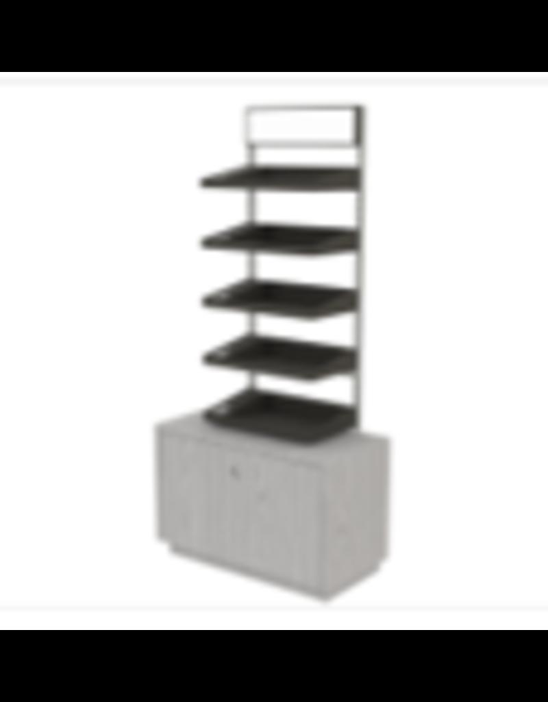 Store Development BEAUTY F.STAND, GABLE LADDER, SHELVES W.NUMB., DRKGR-GRASH/MEL (2020)
