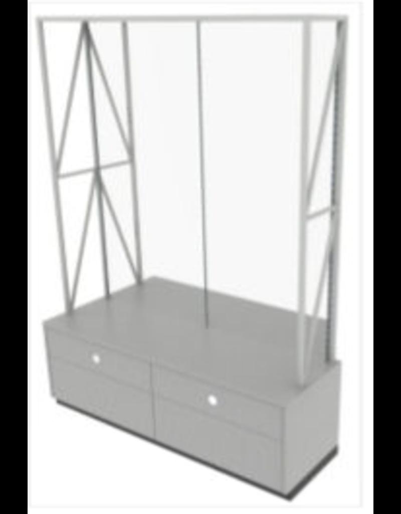 Store Development BEAUTY WALL CABINET, GR. ASH/MEL, 2-SEC (2020)