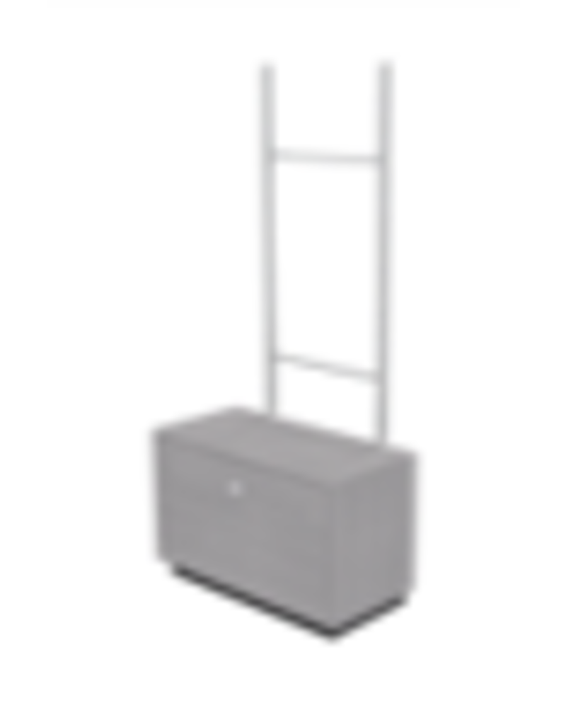 Store Development BEAUTY F.STAND GABLE DRAWER W LADDER, GR.ASH/MEL (2020)
