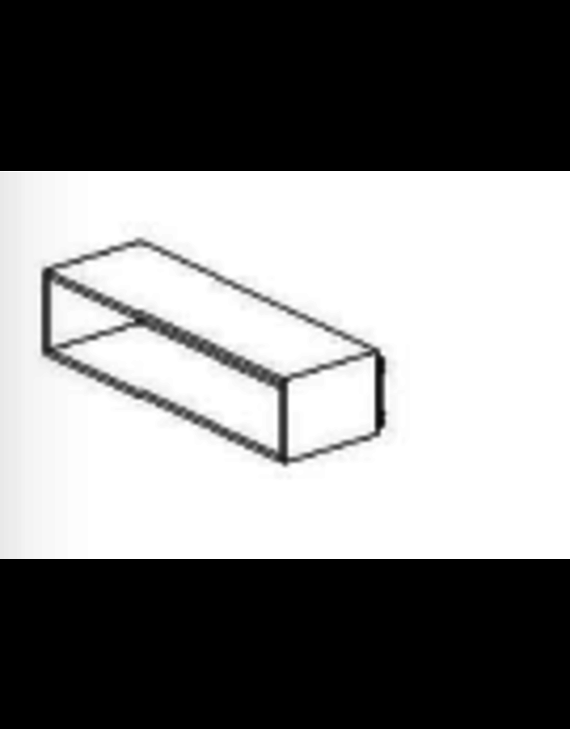 Store Development BOX FOR WALL, WIDE-LOW, GREY ASH