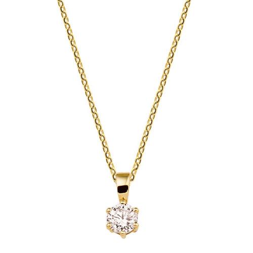 Gouden Collier met hanger zirconia 4018368