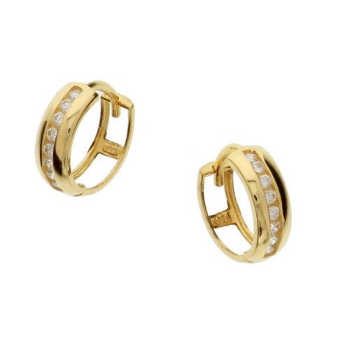 Gouden klapcreolen zirconia 4018312