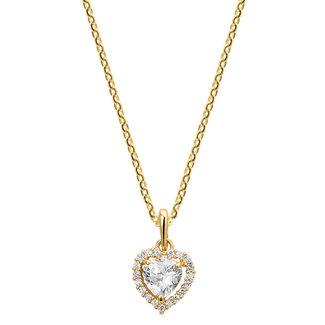 Huiscollectie Gouden Collier met hart hanger 4018458