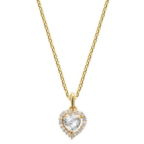 Gouden Collier met hart hanger 4018458