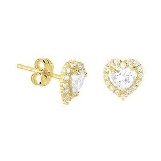 Van Dam Juwelier Gouden oorknopjes met zirconia 4018274