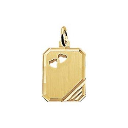 Huiscollectie Gouden Graveerhanger harten 4018350 12mm