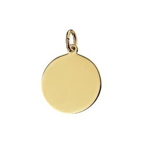 Huiscollectie Gouden Graveerhanger 4018354 16mm