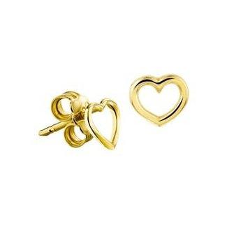 Huiscollectie Gouden Oorknoppen hart 4018280