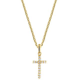 Mi Zalini Mi Zalini Gouden Collier met kruis zirkonia 4018484