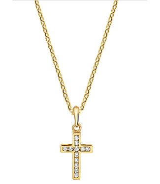 Mi Zalini Mi Zalini Gouden Collier kruis Zirkonia 4018486