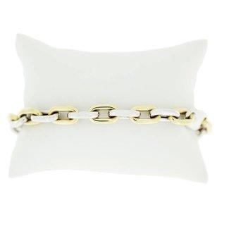 Van Dam Juwelier Goud met Witgouden Armband 010 94506
