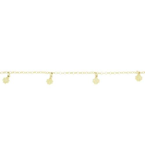 Huiscollectie Gouden Bedelarmband 14cm Klavertje Vier