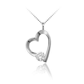 Van Dam Juwelier Zilveren hanger hart  P618