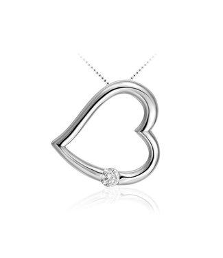 Van Dam Juwelier Zilveren hanger hart P605