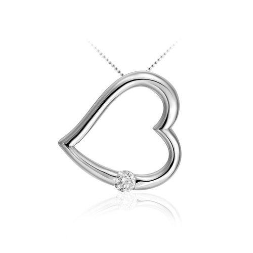 Huiscollectie Zilveren hanger hart P605