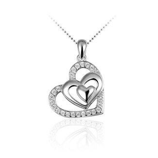 Huiscollectie Zilveren hanger hart P108