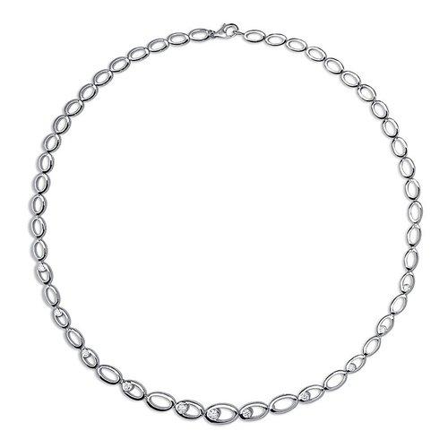 Huiscollectie Zilver collier met zirconia N912 45cm