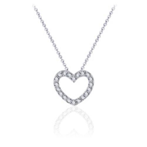 Huiscollectie Zilveren Ketting hart N1024