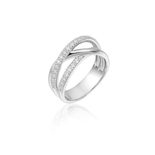 Huiscollectie Zilveren Ring mt 54 r311