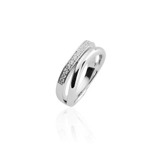 Zilveren ring met zirconia R038 60