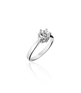 Van Dam Juwelier Zilveren ring met zirconia SPR05 56