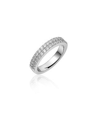 Van Dam Juwelier Zilveren ring met zirconia R067 56